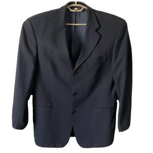 Hugo Boss 42R Navy Blue Blazer Jacket Virgo Wool
